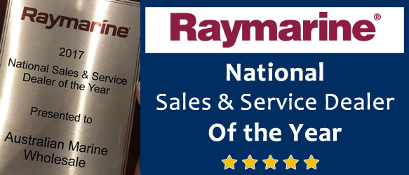 Raymarine's National Sales and Service Dealer of 2017